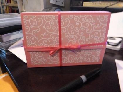 Handmade Notecard Box